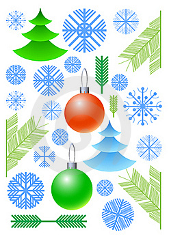 New Year's Vector Elements Royalty Free Stock Photos - Image: 16435378