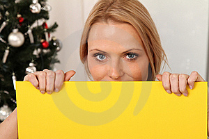Blond Angel With A Plate Royalty Free Stock Image - Image: 16440176