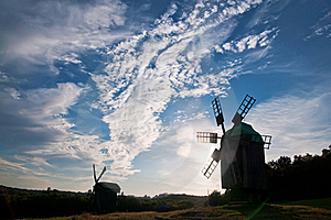 Landscape With A Windmill Stock Images - Image: 16442034