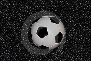 Wet Football Royalty Free Stock Image - Image: 16442896