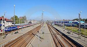 Railway Station Panorama Royalty Free Stock Images - Image: 16446649