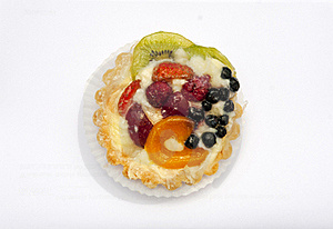 Delicious Flan With Fruit Royalty Free Stock Images - Image: 16449559