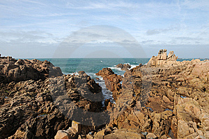 Coastline At Les Grandes Rocques, Guernsey Royalty Free Stock Image - Image: 16453746