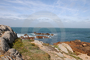 Coastline At Les Grandes Rocques, Guernsey Royalty Free Stock Photos - Image: 16453788