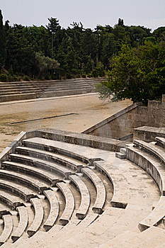 Ancient Greek Sports Stadium And Theatre Royalty Free Stock Photography - Image: 16458707