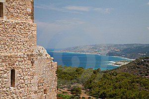 View From Kritinia Castle Rhodes Royalty Free Stock Image - Image: 16458836