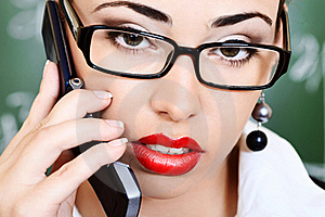 Talking On A Phone Royalty Free Stock Images - Image: 16459889