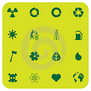 Environmental Icons Stock Image - Image: 16463881