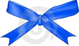 Blue Bow Isolated On White Background Stock Photos - Image: 16464383