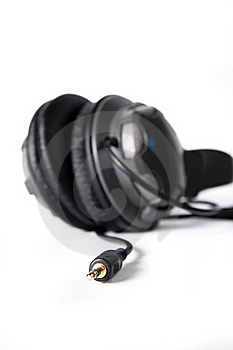 Isolated Powerful Stereo Headphones Royalty Free Stock Image - Image: 16464656