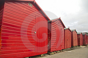 Red Huts, Grey Sky Stock Photo - Image: 16466570
