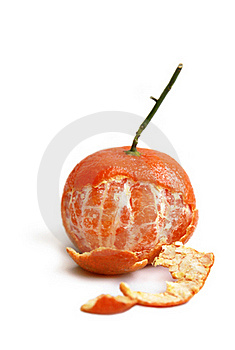 Clementine Partly Peeled Royalty Free Stock Image - Image: 16468216