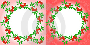 Rowanberry Wreaths Royalty Free Stock Photos - Image: 16469398