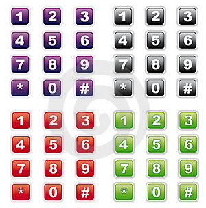 Number Buttons Royalty Free Stock Images - Image: 16472809