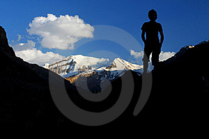 Man In The Mountains Stock Photos - Image: 16479403