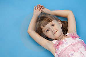 Small Girl Lies Relax. Royalty Free Stock Photography - Image: 16480517