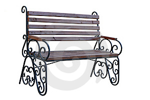 Wooden Garden Bench Royalty Free Stock Images - Image: 16480989