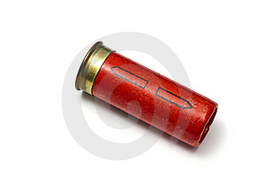 Shotgun Bullet Isolated On White Stock Photography - Image: 16481162