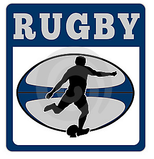 Rugby Player Kicking Ball Stock Photo - Image: 16482790