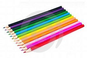 Barwioni Ołówki Obrazy Royalty Free - Obraz: 16483349