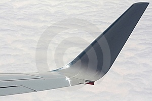 Plane Wing Over Clouds Stock Images - Image: 16484064