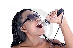 Singer Afro-american Woman Stock Photos - Image: 16484753