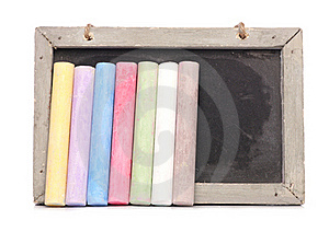 Chalkboard And Chalk Royalty Free Stock Photography - Image: 16485597