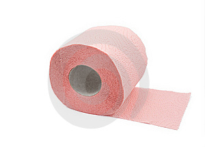 Roll Of Toilet Paper With Clipping Path Stock Photo - Image: 16488950
