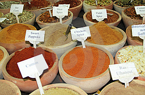 Spice Market Royalty Free Stock Photos - Image: 16489458
