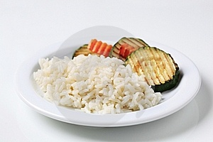 Grilled Zucchini And Rice Royalty Free Stock Images - Image: 16489979