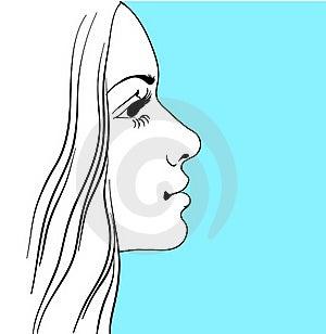 Girl In Profile Stock Image - Image: 16490371