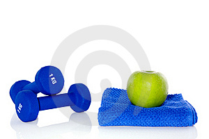 Blue Weightlifting Instruments Royalty Free Stock Photo - Image: 16490925