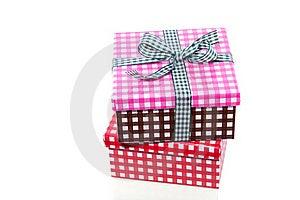 Colorful Checkered Giftboxes Stock Photos - Image: 16491183