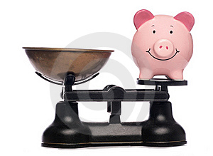 Balanced Piggy Bank Royalty Free Stock Image - Image: 16491536
