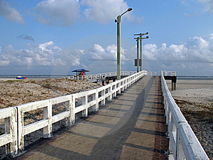 White Pier Stock Photo - Image: 16492110