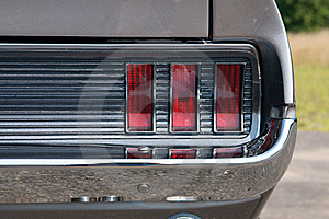 Rear Taillight On Grey Classic Stock Image - Image: 16492511