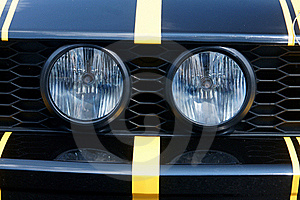 Two Round Headlights Stock Photos - Image: 16492523