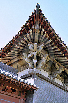 Elaborate Eave Of Chinese Old Temple Stock Images - Image: 16493254