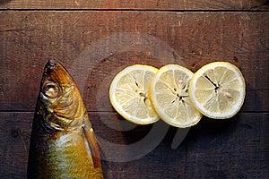 Bloater And Lemon Royalty Free Stock Photo - Image: 16495115