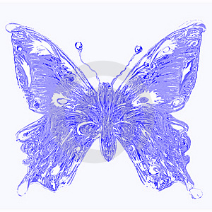 Aqua Butterfly Royalty Free Stock Image - Image: 16496926