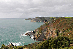 Petit Bot Bay From Icart Point On Guernsey Stock Photography - Image: 16498942