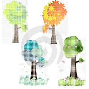 Mosaik Tree Stock Photography - Image: 16499022
