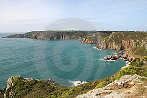 Petit Bot Bay From Icart Point On Guernsey Royalty Free Stock Images - Image: 16499039