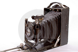 Old Camera Isolated On White Stock Photo - Image: 1652970