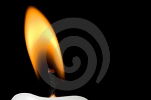 Horizontal flame close up Royalty Free Stock Photography