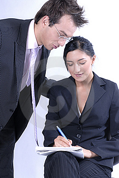 Communicating business Stock Photo