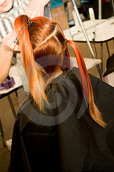 Woman Coiffure Stock Image - Image: 1658071