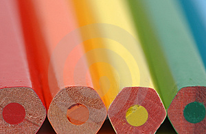 Butt-end of pencils Stock Photography