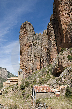 Riglos, Huesca, España Imágenes de archivo libres de regalías - Imagen: 1659699