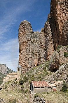 Riglos, Huesca, Spanje Royalty-vrije Stock Afbeeldingen - Afbeelding: 1659699